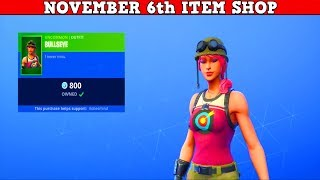 Fortnite Item Shop (November 6th) | *NEW* BULLSEYE SKIN IS FINALLY HERE!