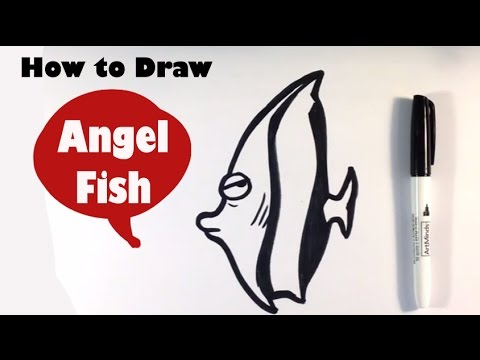 How To Draw An Angel Fish (Cute) - Easy Pictures To Draw