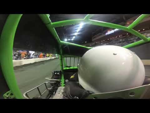 600cc micro sprint heat race win. - dirt track racing video image