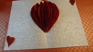 Paper Crafts Tutorial: Honeycomb Heart Pop-up card