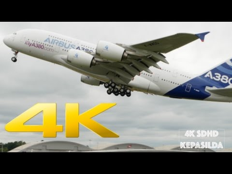 [4K] Airbus A350, A380, A400. 3 brothers show.