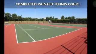Maintaining Tennis Court Surface - Botley Expert Painting Contractors
