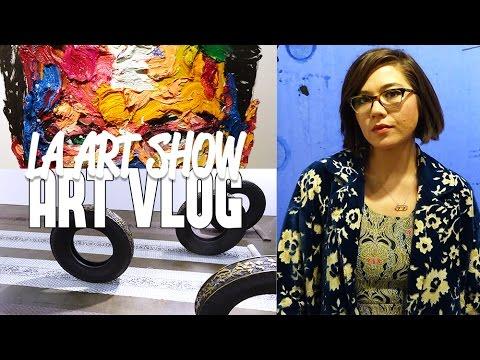 LA ART SHOW 2016 / ART VLOG   Blanket Fort Adventures