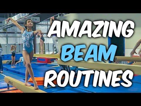 Coach Life: AMAZING Gymnastics Beam Routines| Rachel Marie