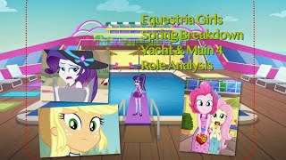 Equestria Girls Spring Breakdown Yacht & Main 4 Role Analysis