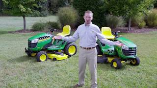 John Deere 100 Series Lawn Mower Model Updates for 2018