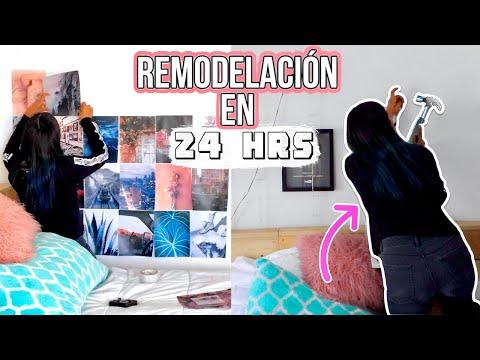 REMODELANDO MI HABITACIÓN EN 24 HORAS | Michmoon