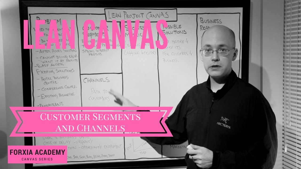 Lean Canvas   Customer Segments and Channels   YouTube Lean Canvas   Customer Segments and Channels