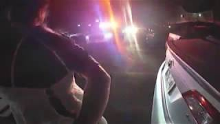 Video shows handcuffed woman stealing police car