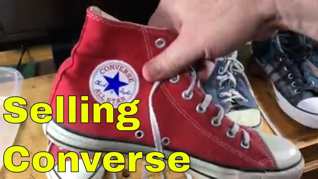 8465e5dc6b98 Cleaning and listing Converse on eBay - are made in USA worth more ...