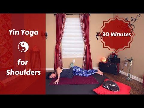 Yin AM:  Yin Yoga for Shoulders | 30 Minute Yin Yoga for Full Shoulder Flexibility & Release