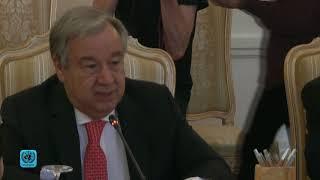 Генсек ООН встретился с главой МИД России