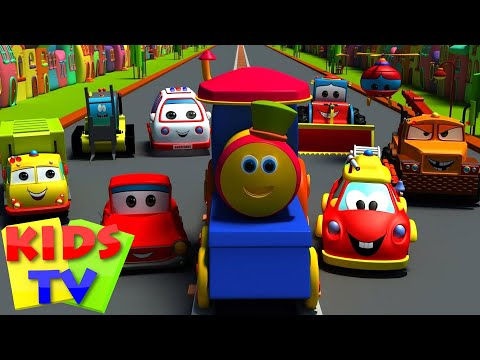 Transport Adventure  Transport Train for kids  Kids train  Bob the Train  Songs for kids