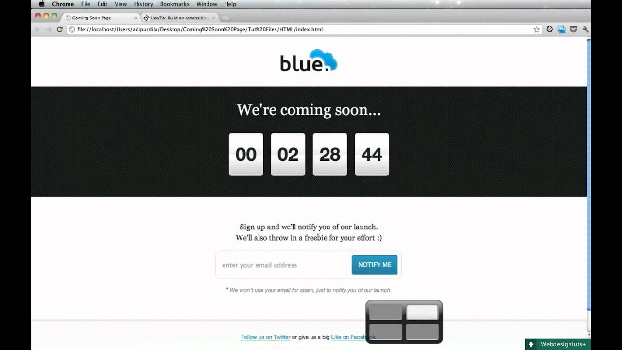 Adding a jQuery Countdown to Our