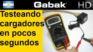 Chequeando tu Transformador en 90 segundos ( notebook, router, etc) by Gabak Technologies