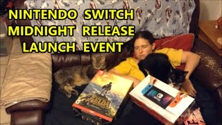 Nintendo Switch Midnight Release Launch At Gamestop | Scottsquatch