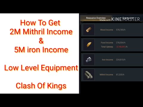 Clash Of Kings: Increase Resource Income