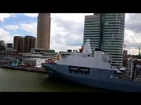 WHD2017 Turning and Docking the Pride of Rotterdam at the cruise terminal
