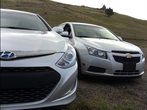 Hyundai Sonata Hybrid vs Chevy Cruze Eco Challenge Review