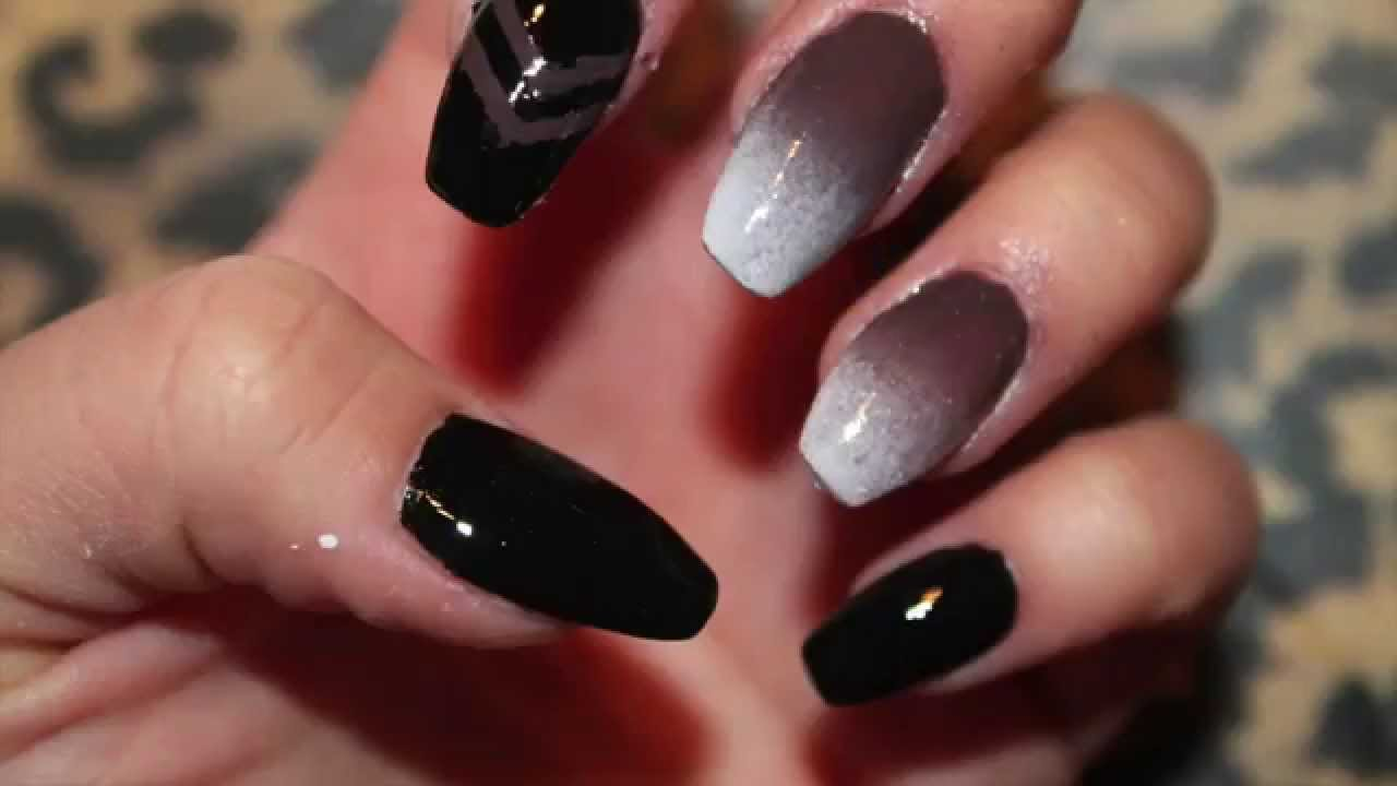 Neutral Ombre Nail Tutorial - YouTube