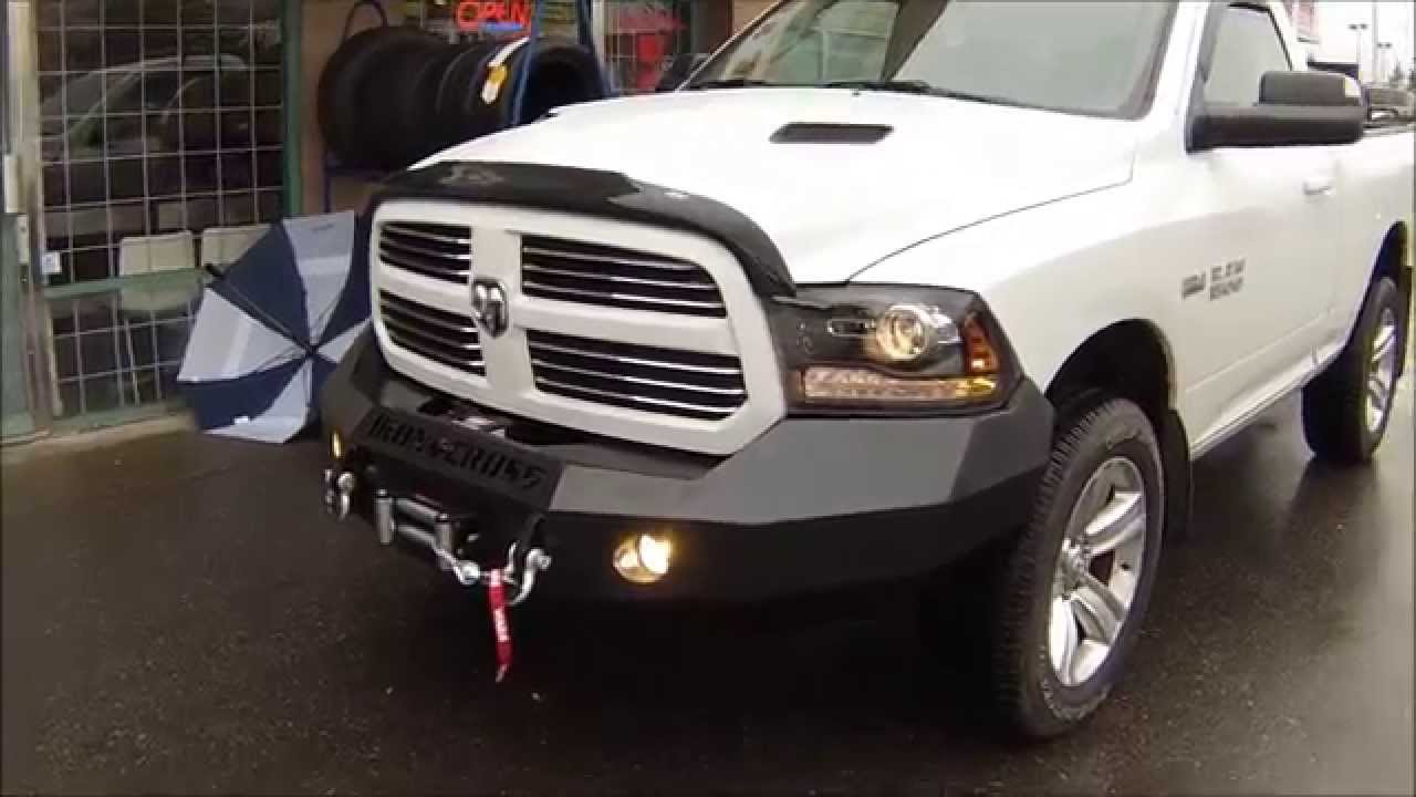 maxresdefault iron cross bumper and warn winch dodge ram 1500 at dales auto 2500 Warn Winch Wiring Diagram at metegol.co
