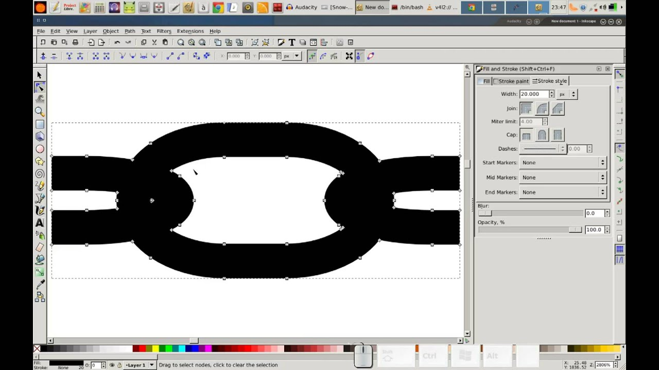 how to draw on inkscape