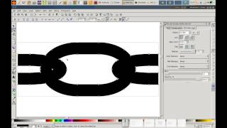 How to draw infinite chains in Inkscape