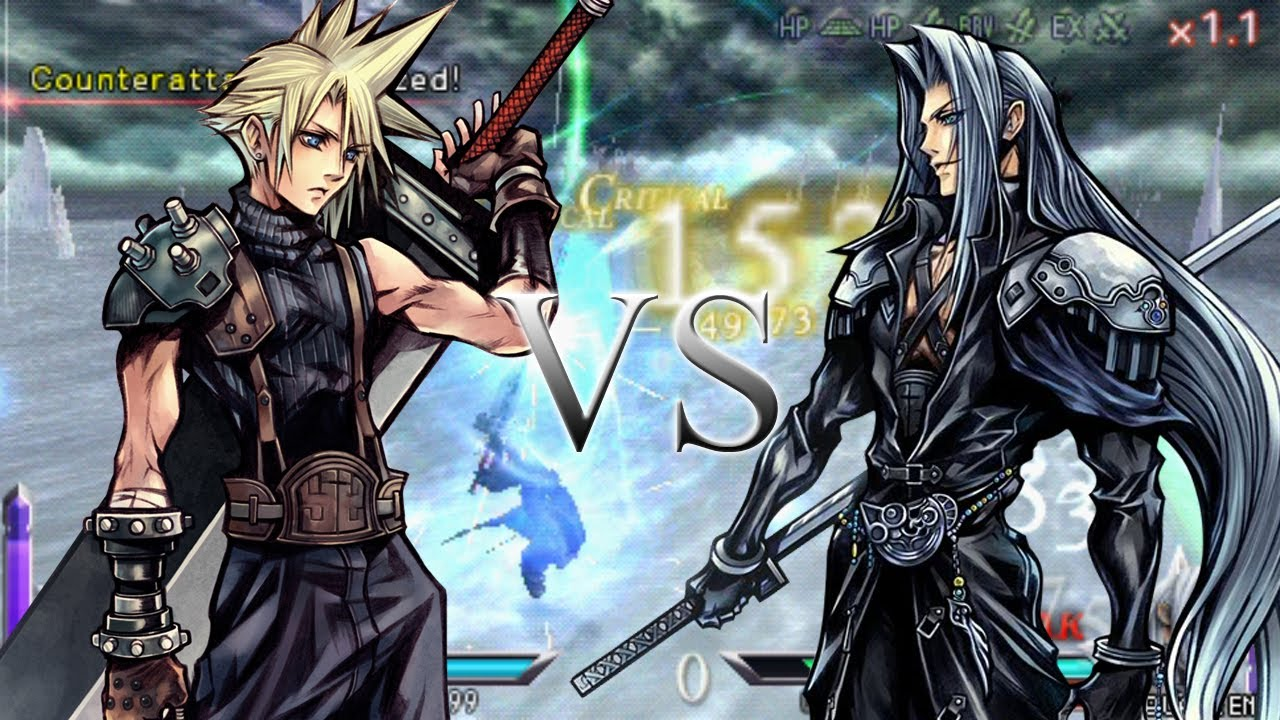 Ff7 Wallpaper Hd Dissidia 012 Final Fantasy Cloud Strife Vs Sephiroth