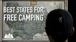Top 10 States for Free Camping & The Most Boondocking