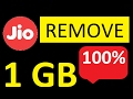 REMOVE 1 GB DATA LIMIT FROM JIO | with proof