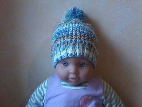 tuto tricot layette bonnet pour b b au point de sable youtube. Black Bedroom Furniture Sets. Home Design Ideas