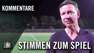 Die Stimmen zum Spiel (SC Charlottenburg – 1.FC Wilmersdorf, Berlin-Liga)   SPREEKICK.TV