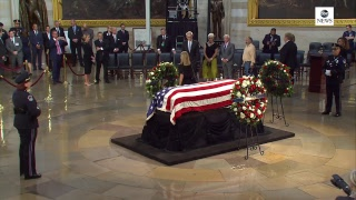 Ceremony To Honor Sen. Mccain As He Lies In State At Us Capitol