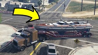 FOUND MICHAEL'S STOLEN BOAT BACK IN GTA 5!