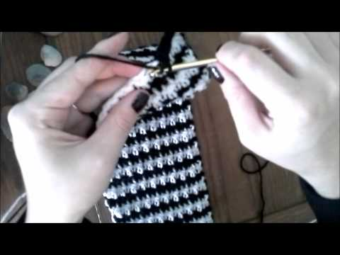 How to Crochet Houndstooth Stitch Shawl FunnyCat.TV
