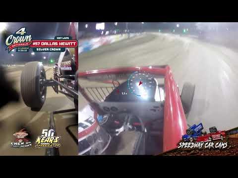 #57 Dallas Hewitt - Silver Crown - Hot laps at Eldora Speedway #4Crown 9-28-19