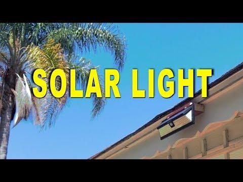 BEST Outdoor LED Solar Motion Light 2018 - Review