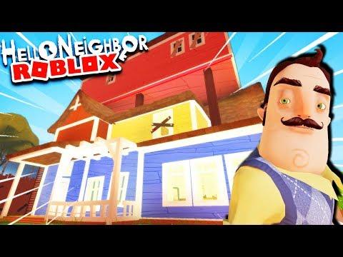 ESCAPE THE NEIGHBOR'S PRISON IN AMAZING HELLO NEIGHBOR REMAKE! | Hello Neighbor Roblox Gameplay