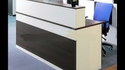Reception table |Wooden counter ideas | cash counter ideas | well furnished reception counter