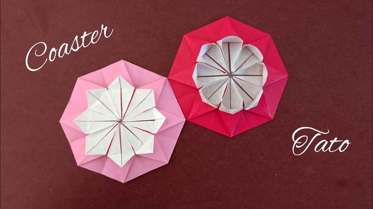 Origami Flower Coaster Folding Instructions | 720x1280