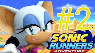 SONIC RUNNERS ADVENTURE GAMEPLAY COM ROUGE E CHARMY (FASES EXTRAS)