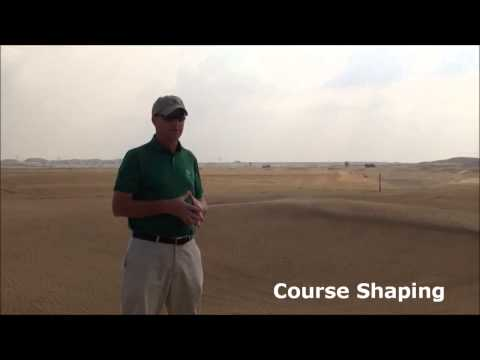 Gil Hanse showcasing the Trump International Golf Club, Dubai as it is being shaped 2014