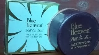 Blue heaven silk on powder with foundation Review..