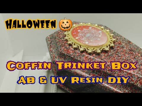 Halloween Resin DIY Coffin Trinket Box