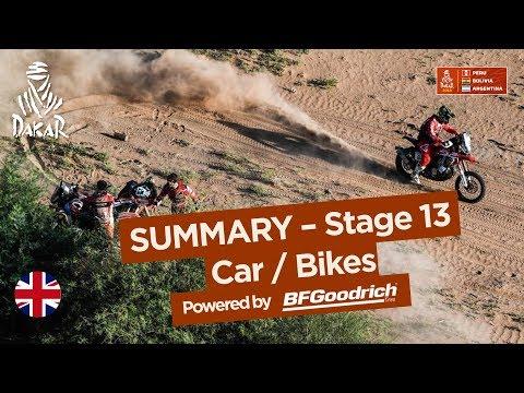 Summary - Car/Bike - Stage 13 (San Juan / Córdoba) - Dakar 2018