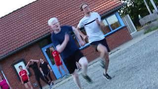 Sprinttraining van STG Albergen IJsclub Losser en Schaatsclub Ootmarsum