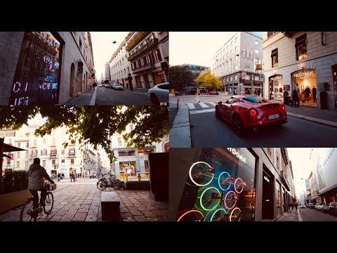 Milan (Italy) Montenapoleone Luxury Shopping Area [4K 60fps]