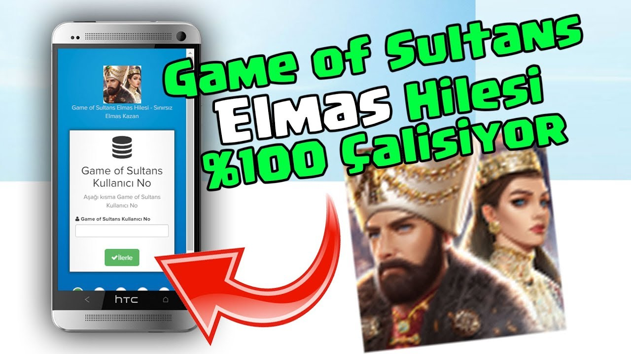 Game of Sultans Hile - Game of Sultans Elmas Hilesi iOS Android