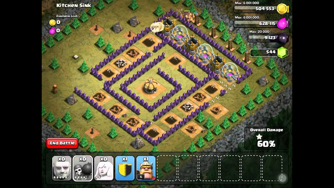 Clash Of Clans Kitchen Sink Lvl 46 Youtube