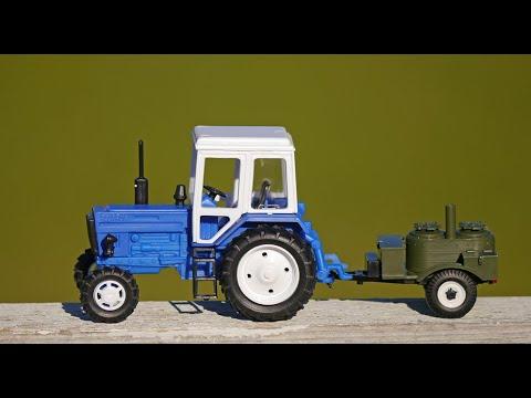 Игрушечный трактор Беларус МТЗ-82 с прицепом